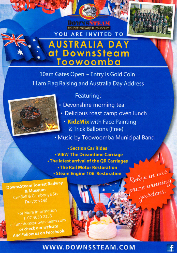 DownsSteam Australia Day 2017 Flyer